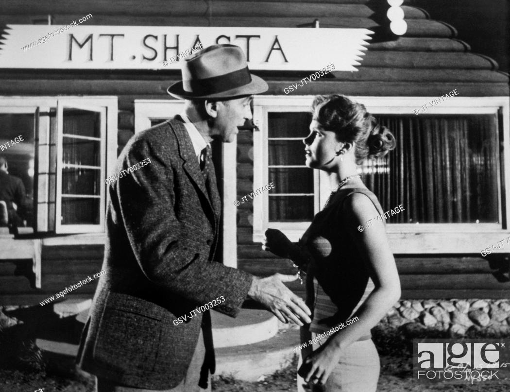James Stewart And Lee Remick On Set Of The Film Anatomy Of A