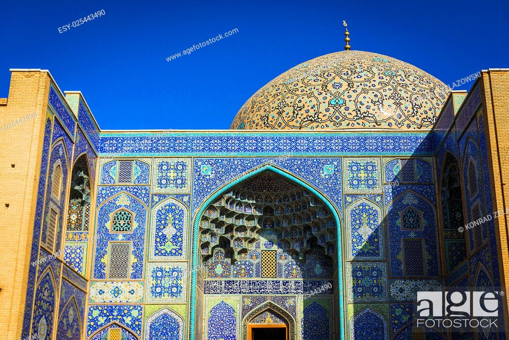 Stock Photo: Dome and iwan of Sheikh Lotfollah Mosque in Isfahan city, Iran.
