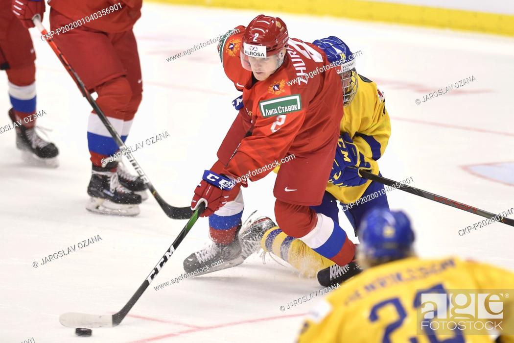 L R Danil Zhuravlyov Of Russia And Lucas Raymond Of Sweden In Action During The 2020 Iihf World Stock Photo Picture And Rights Managed Image Pic Ckp P202001040356901 Agefotostock