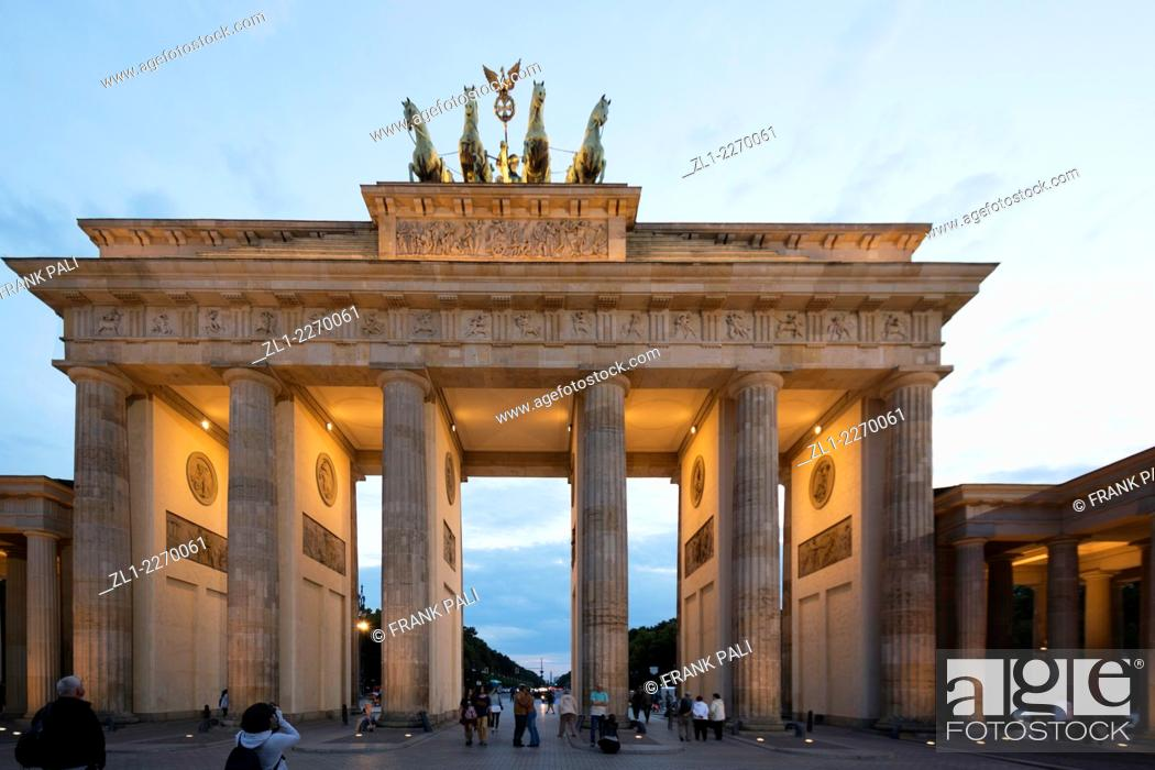 Stock Photo: Brandenburg Gate (Brandenburger Tor), Berlin Germany - Former city gate, rebuilt in the late 18th century.