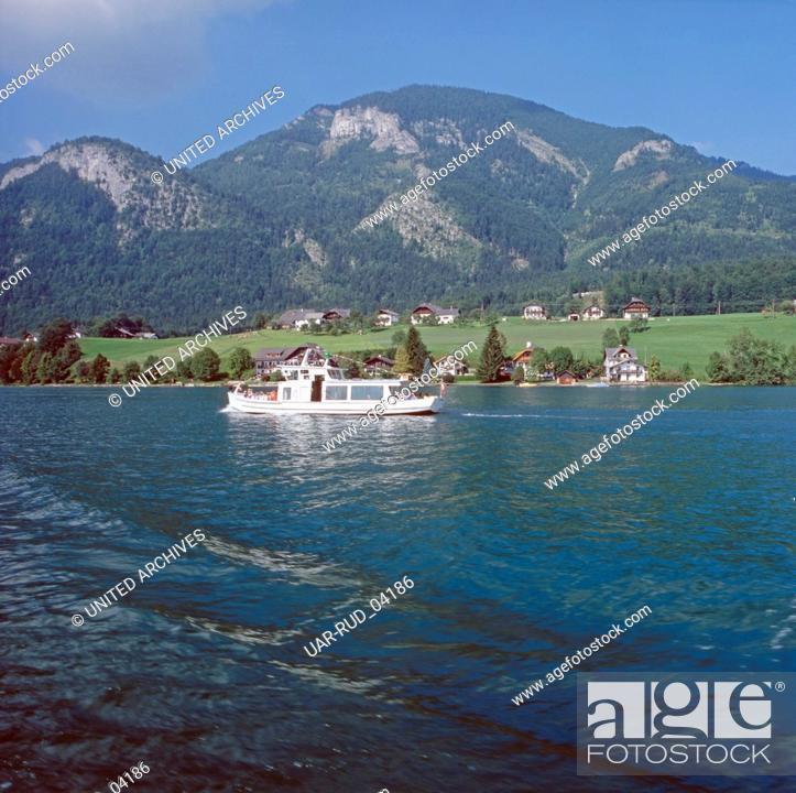 Imagen: Reise zum Wolfgangsee in Salzburg, Österreich 1980er Jahre. Journey to Lake Wolfgang in Salzburg, Austria 1980s.