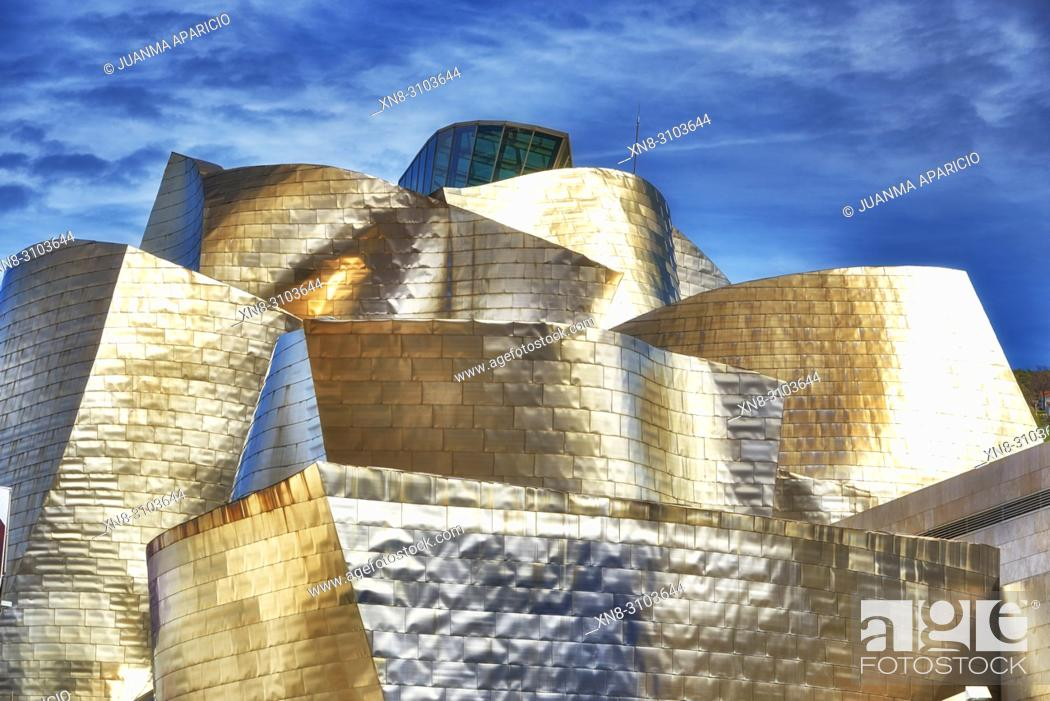 Stock Photo: Guggenheim Museum, Bilbao, Biscay, Basque Country, Euskadi, Euskal Herria, Spain, Europe.