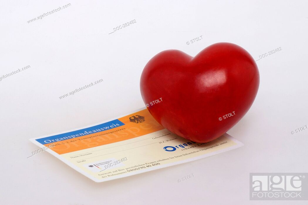 Imagen: Organ donor card with heart.