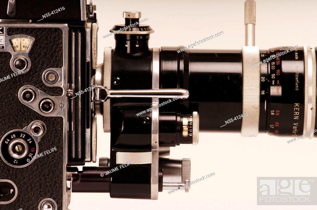 Stock Photo: Bolex 16mm camera.