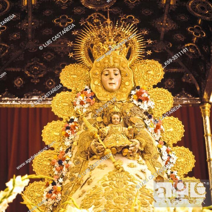 Stock Photo: La Virgen del Rocío (La Blanca Paloma).