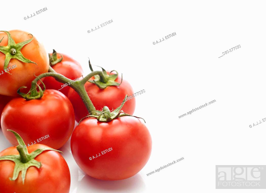 Stock Photo: Varieties of tomatoes.