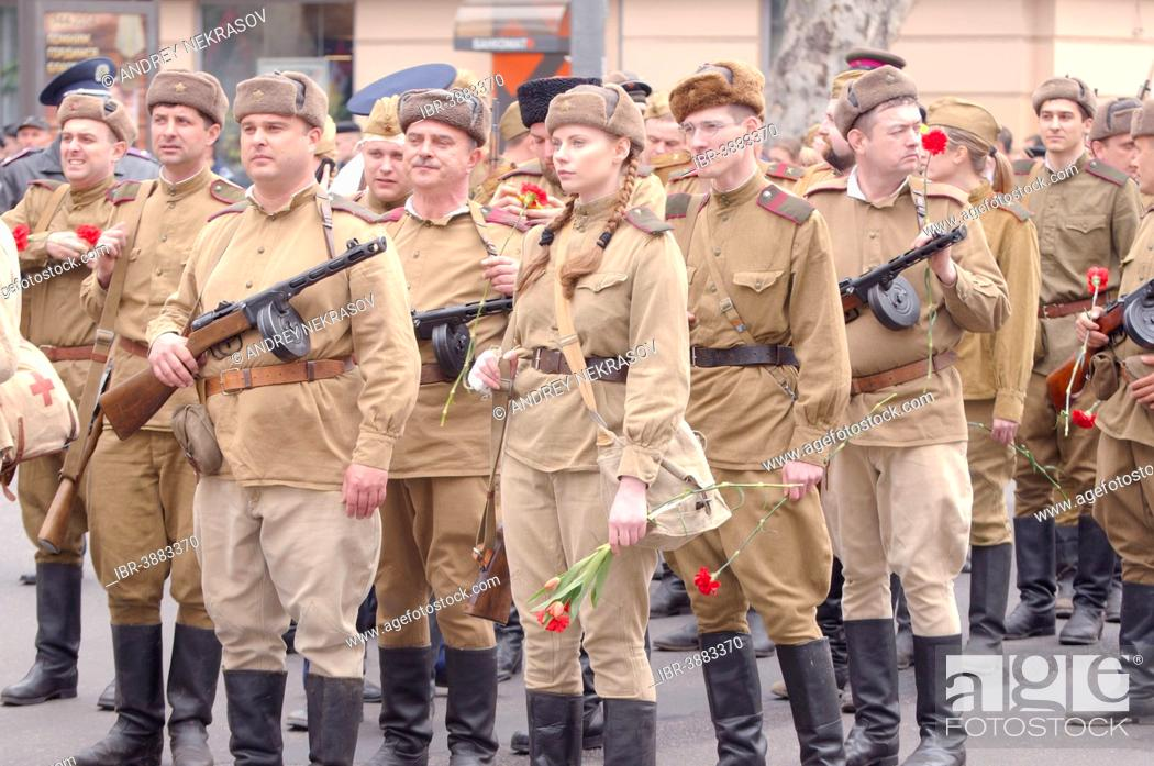 Imagen: Parade commemorating the liberation of Odessa from the Nazis, Odessa, Ukraine.