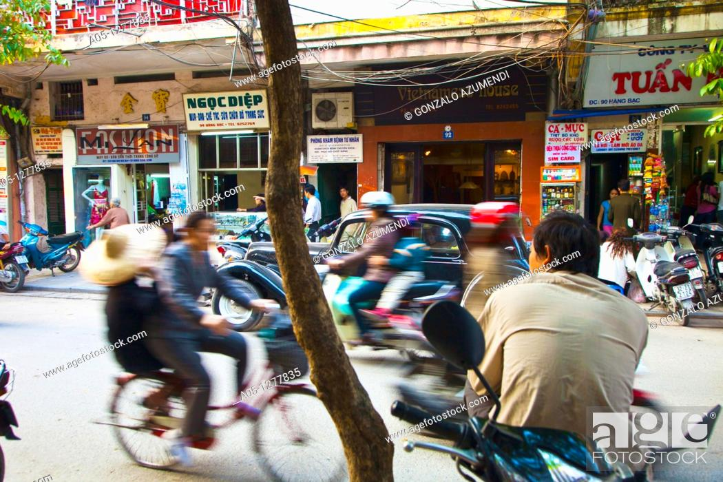 Stock Photo: Old City. Hanoi. Vietnam.