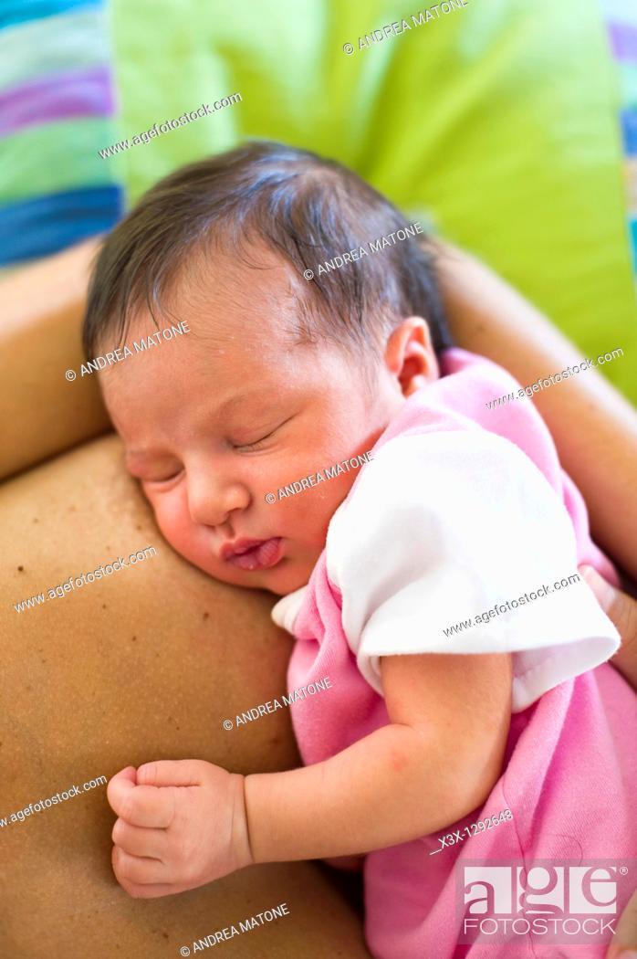 Stock Photo: Baby girl sleeping.