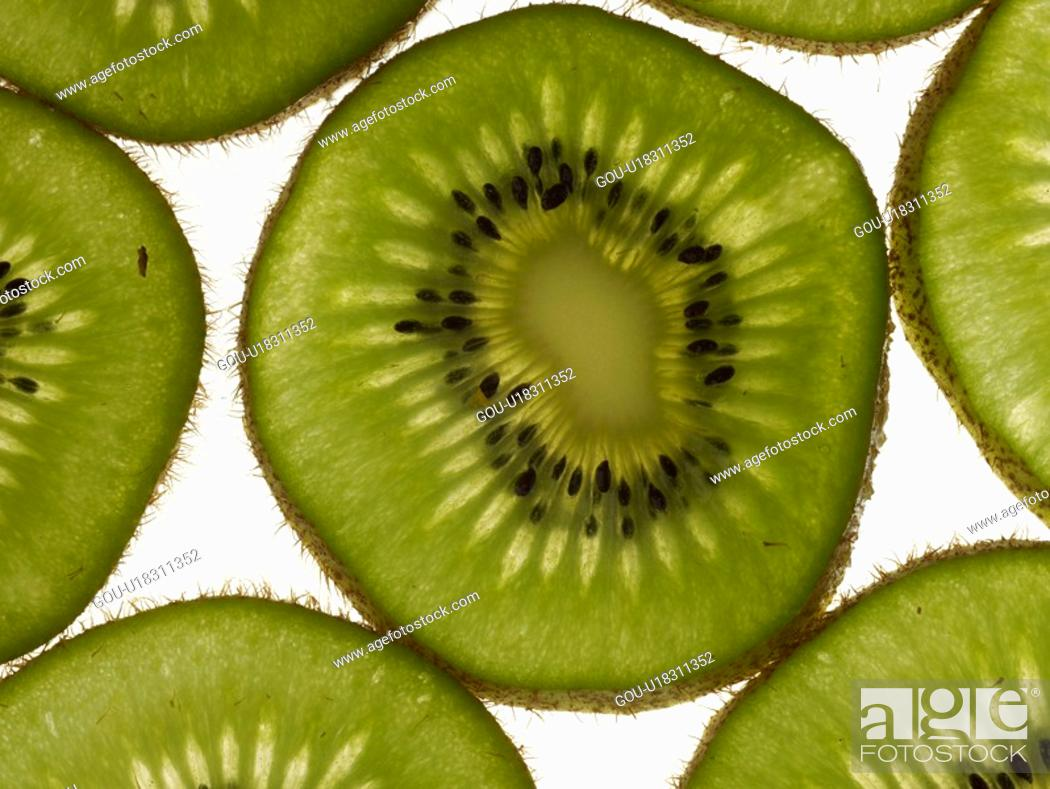 Stock Photo: plant, kiwi, fruit, plants, slice.