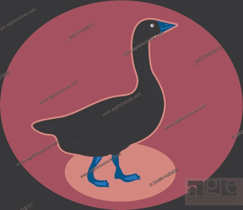 Stock Photo: Illustration of a goose.