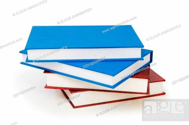 Imagen: Stack of books isolated on the white background.