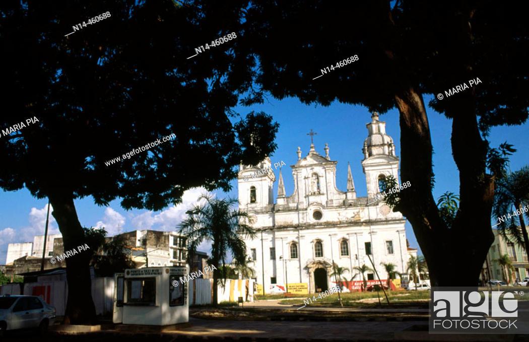 Stock Photo: Cathedral, Belém. Pará, Brazil (2005).