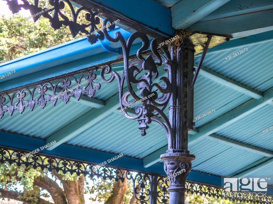 Stock Photo: Victorian cast iron decor. Cape Town, South Africa.
