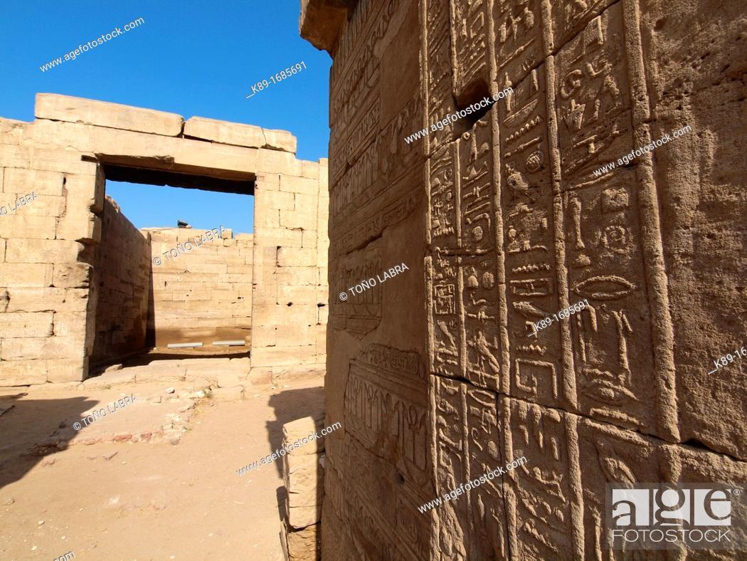 Stock Photo: Dendera temple dedicated to Hathor goddess. Upper Egypt.