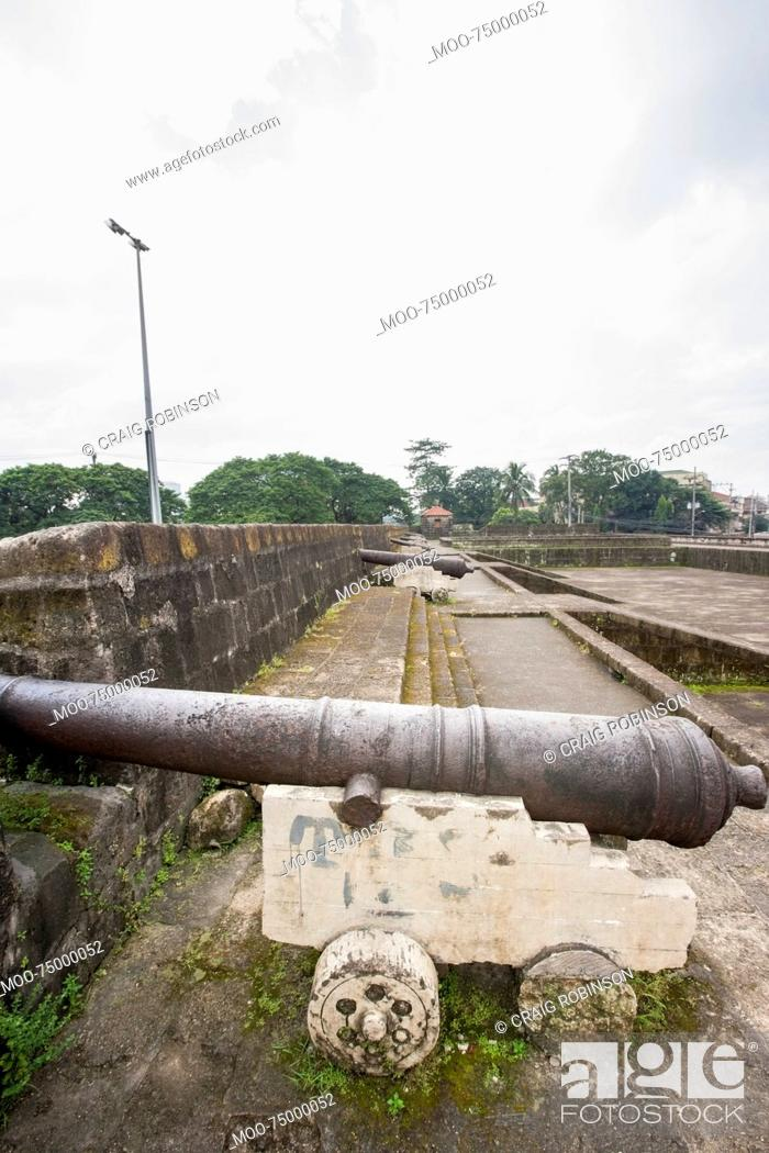 Stock Photo: View of Cannons in Intramuros, Manila, Philippines.