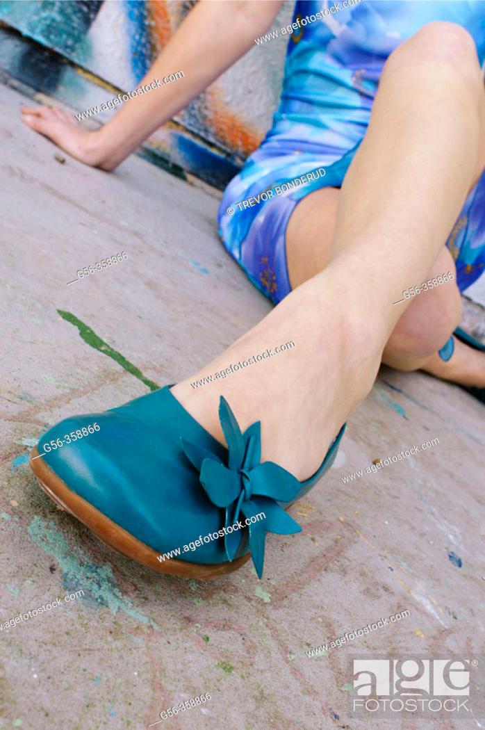 Stock Photo: Fashion, woman legs.
