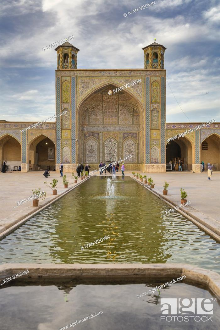 Stock Photo: Vakil Mosque, 1773, Shiraz, Fars Province, Iran.