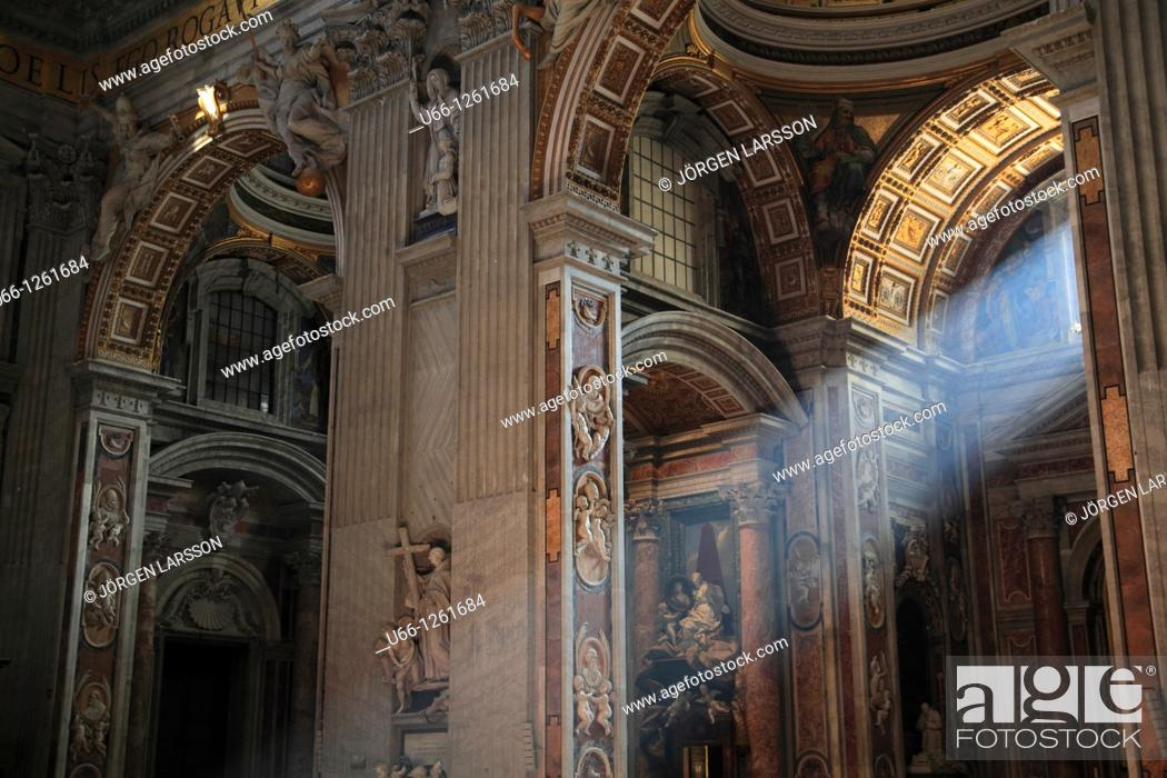 Stock Photo: St. Peter's Basilica, Rome, Italy.