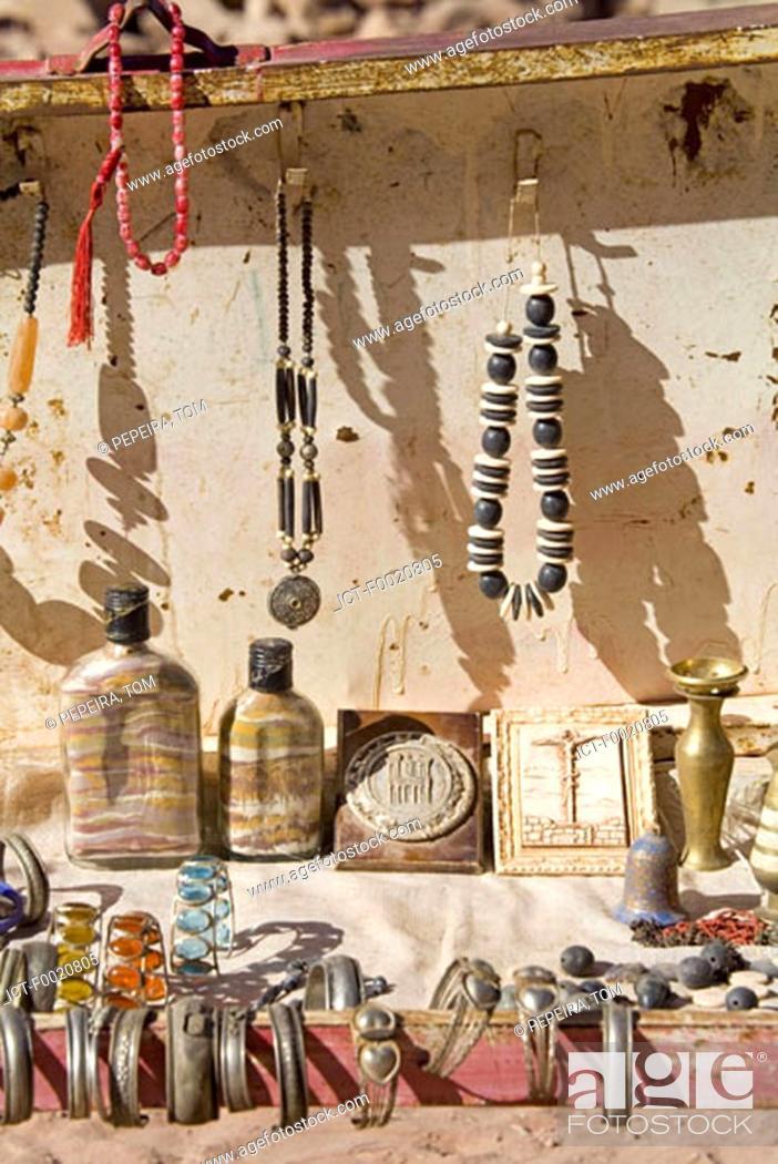 Stock Photo: Jordan, Petra, craftwork and souvenirs.