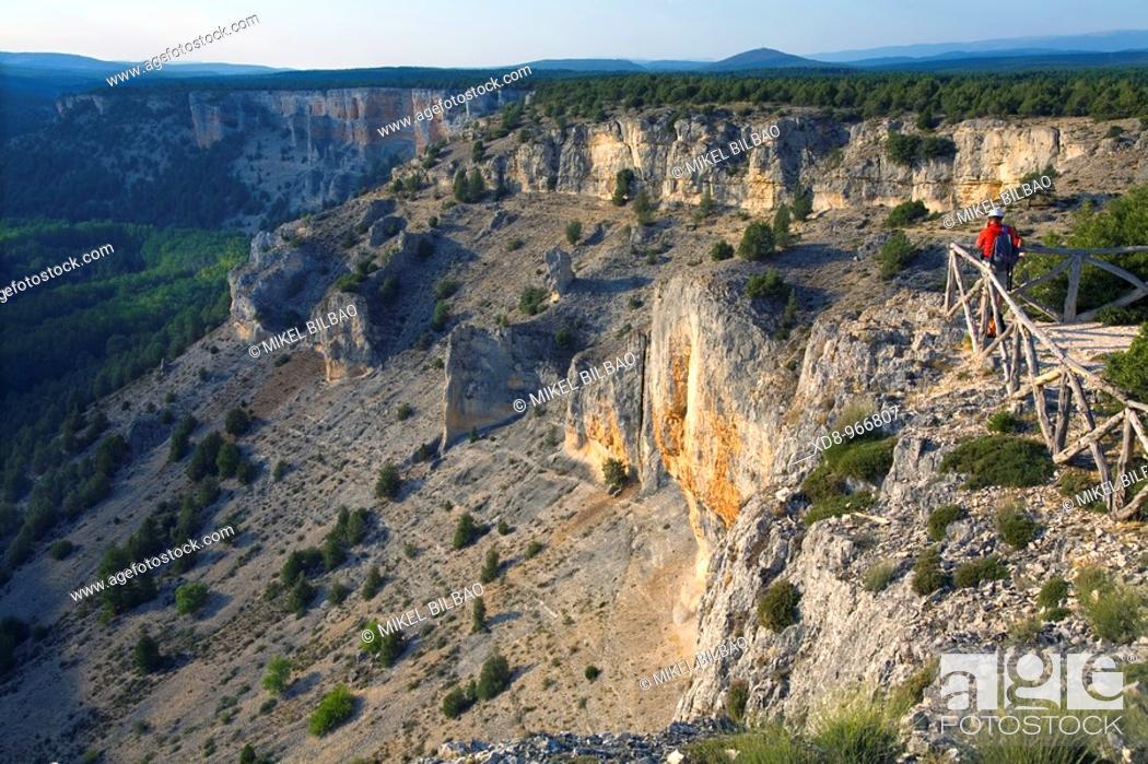 Stock Photo: La Galiana viewpoint  Cañon del Rio Lobos Natural Park  Soria province, Castilla y Leon, Spain, Europe.