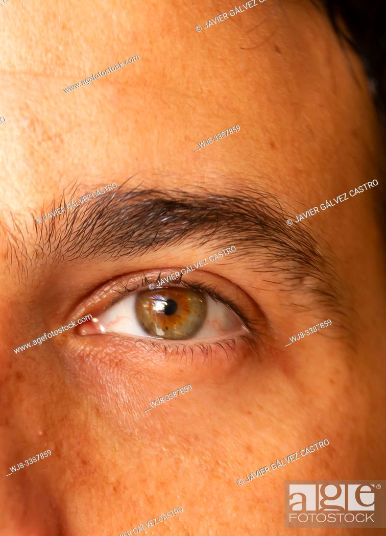Stock Photo: Close up detail eye.