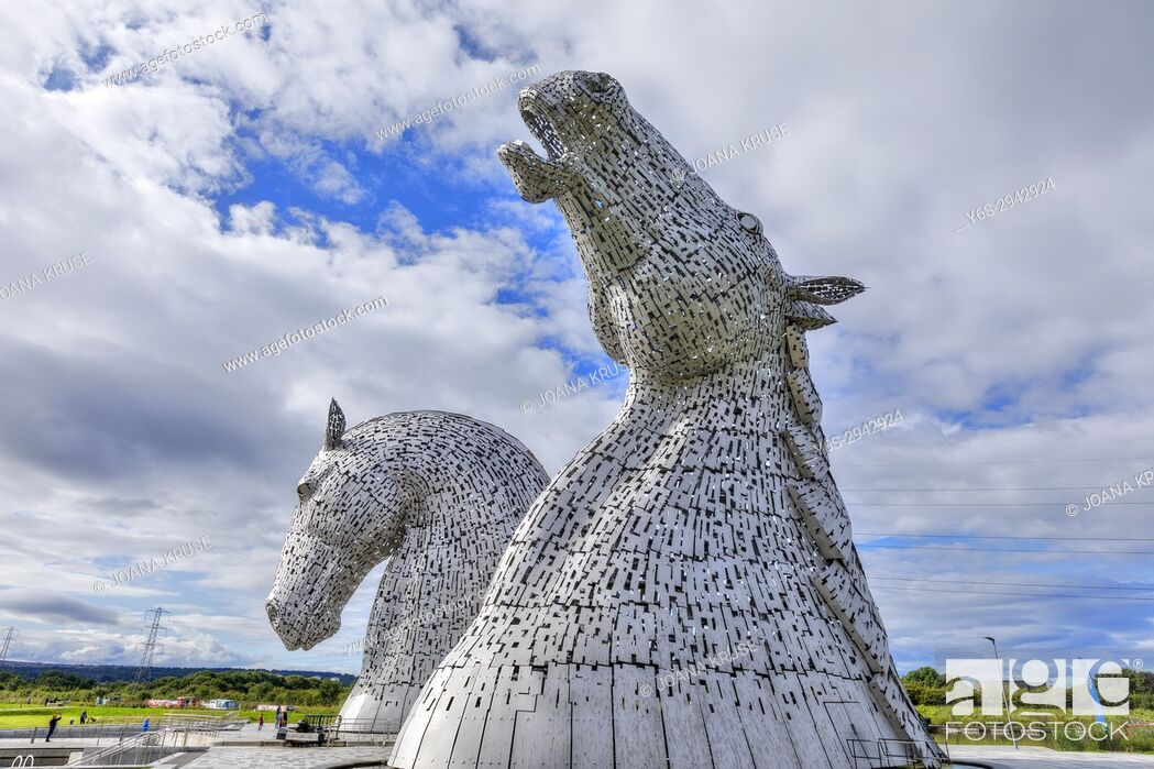 Stock Photo: The Kelpies, The Helix Project, Falkirk, Scotland, United Kingdom.