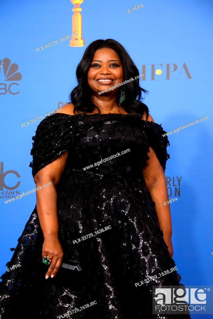 Imagen: Octavia Spencer pose backstage in the press room at the 76th Annual Golden Globe Awards at the Beverly Hilton in Beverly Hills, CA on Sunday, January 6, 2019.