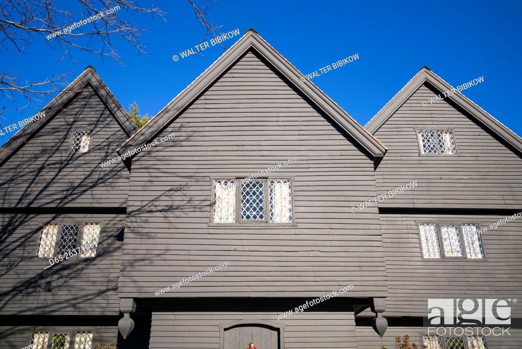 USA, Massachusetts, Salem, Salem Witch House, oldest house