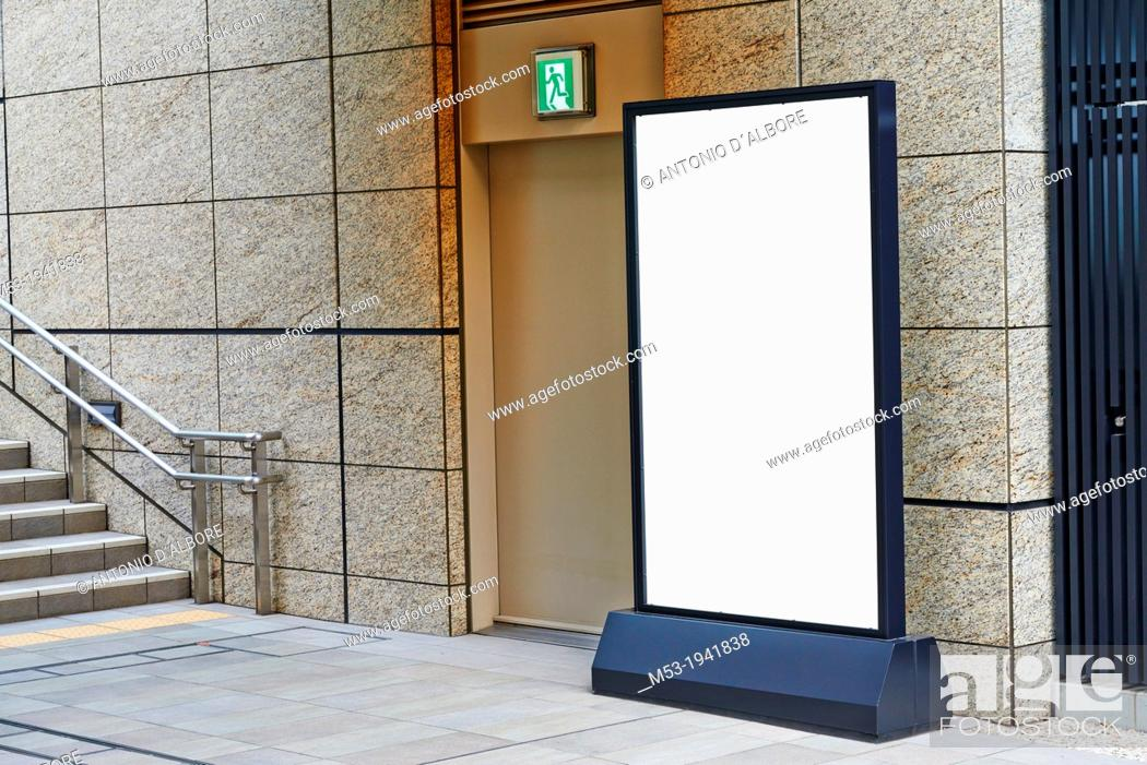 Stock Photo: Empty commercial billboard with copy space.
