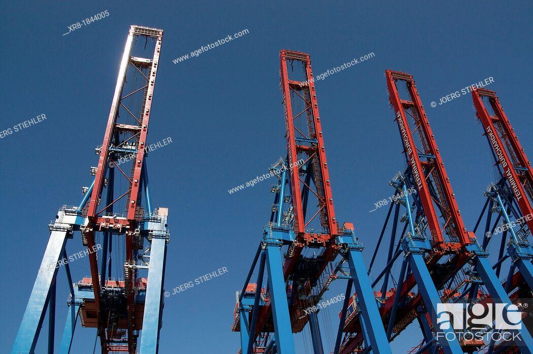 Stock Photo: Dockside Crane, Port of Hamburg.