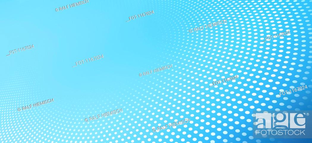 Stock Photo: Curved dot pattern against an blue background.
