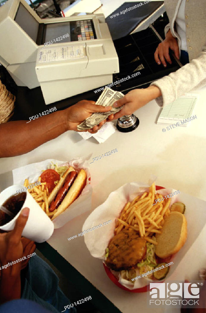 Stock Photo: Money for Fast Food.