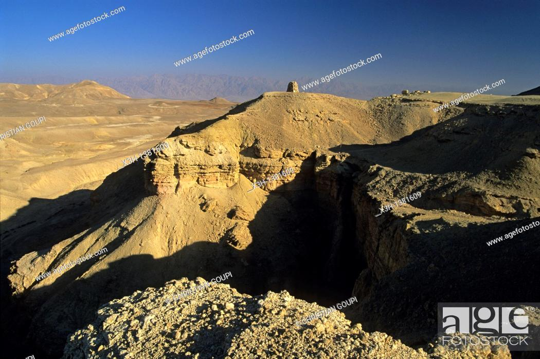 Stock Photo: Eilat Mountains, a view from Mount Yoash, Negev, Israel, Middle East, Western Asia.