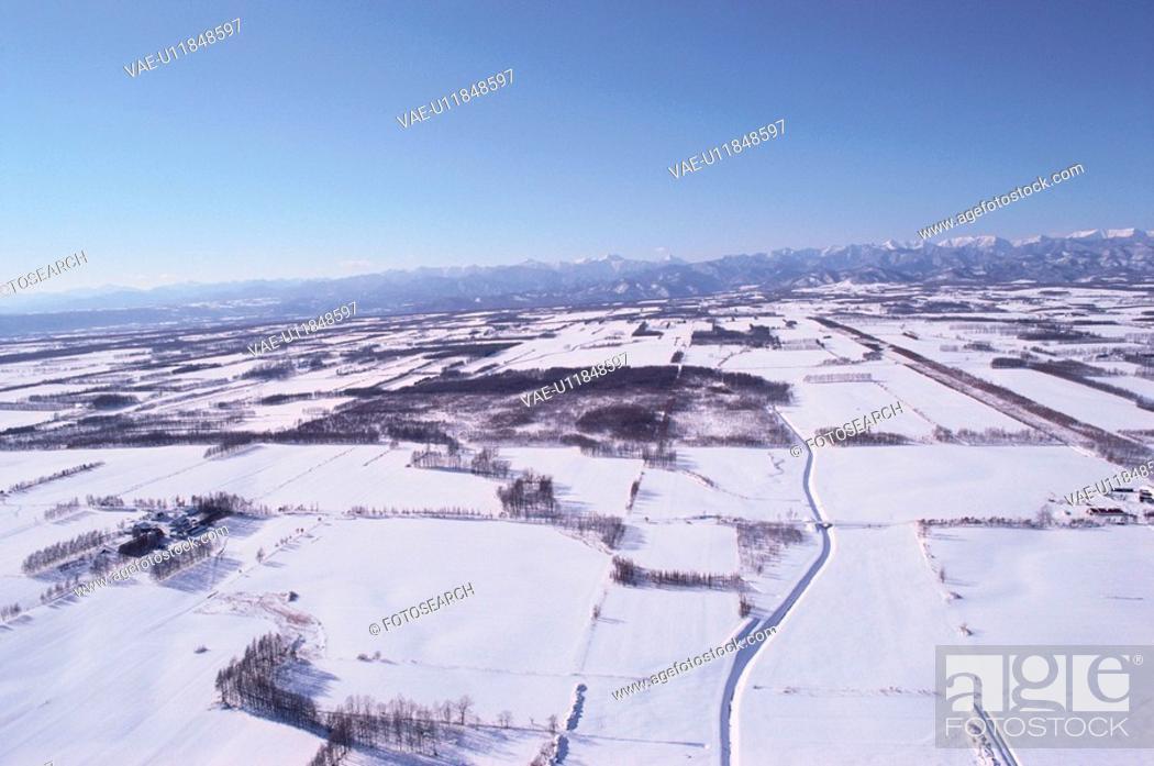 Stock Photo: Fields In Snow.