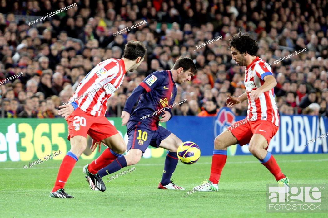 Stock Photo: 16/12/2012, NOU CAMP, BARCELONA  Leo Messi in action during the match in barcelona.