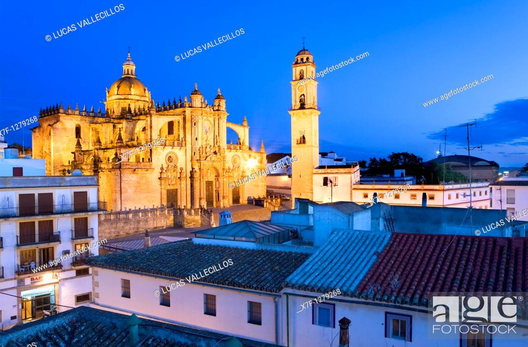 Stock Photo: Cathedral built 17th century  Jerez de la Frontera  Cádiz province  Spain.