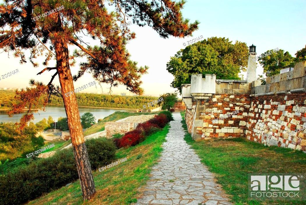 Stock Photo: Kalemegdan fortress in Belgrade.