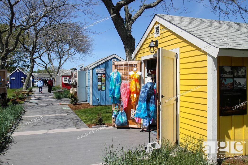 Stock Photo: Hyannis Harbor Artist Shanties, HyArts District, Hyannis, Cape Cod, Massachusetts, United States, North America.