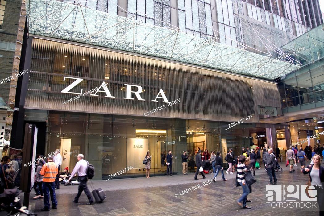 Stock Photo: zara store in pitt street, sydney.
