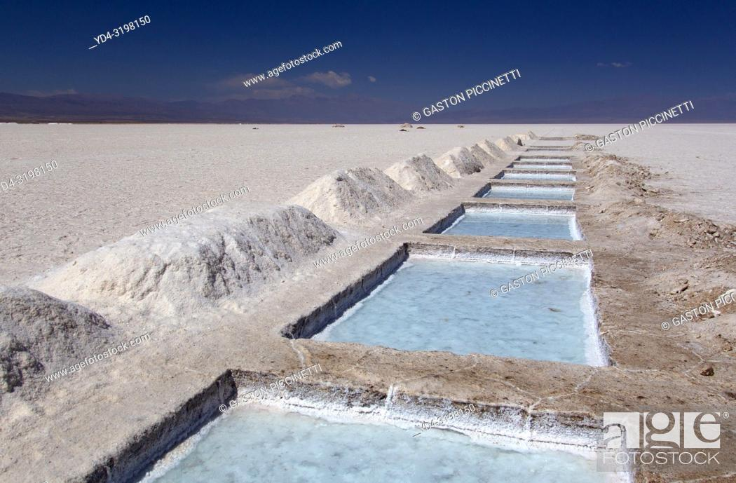 Stock Photo: Salinas Grandes. Salinas Grandes is the denomination of a border salt of the Argentine provinces of Salta and Jujuy, located in the Altiplano.