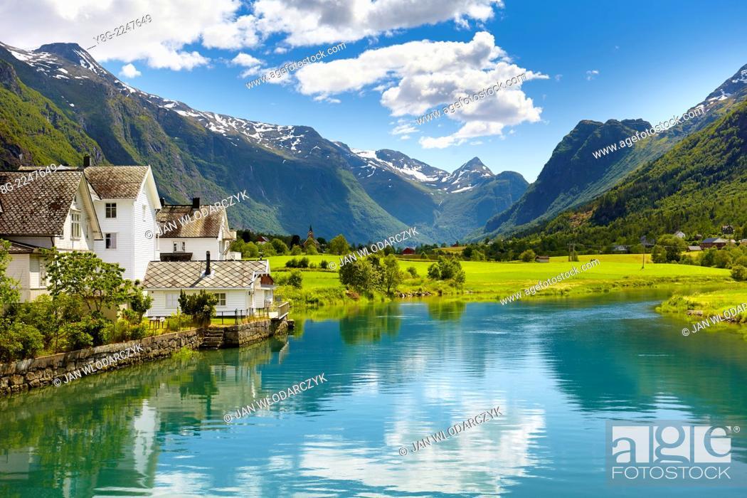 Stock Photo: Oldedalen valley, Norway.