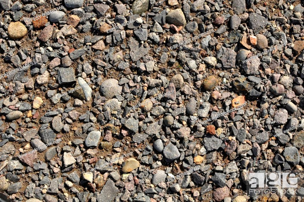 Stock Photo: Blue Rock Gravel Background.