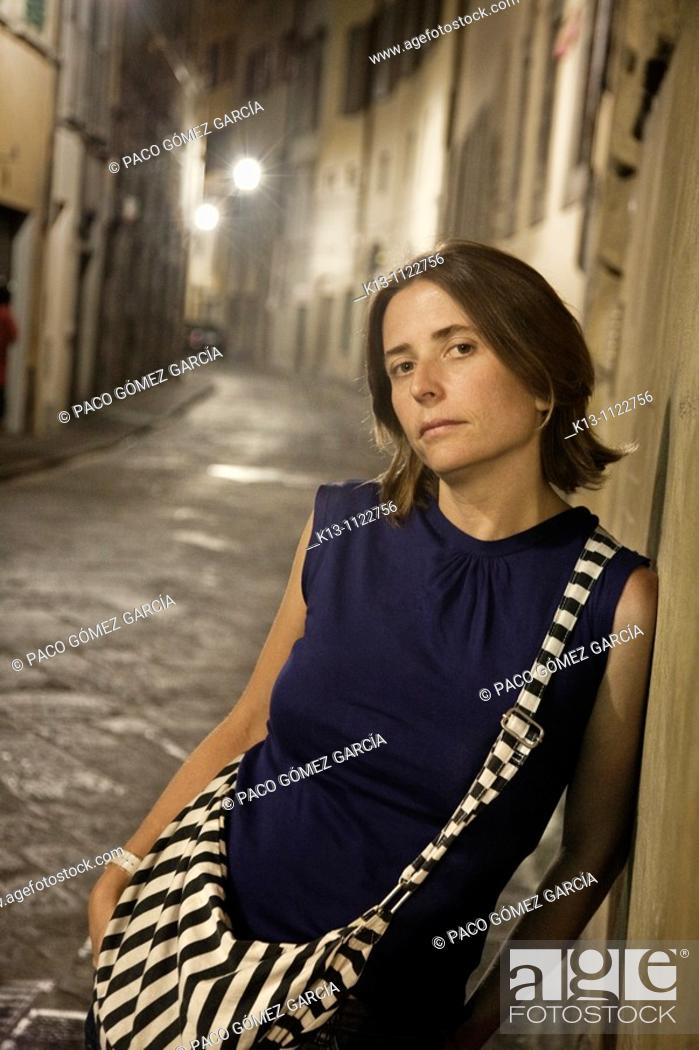 Stock Photo: Portrait of woman, Florence, Italy.