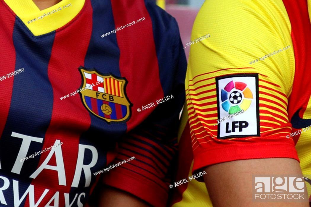 Stock Photo: FC Barcelona shirts.