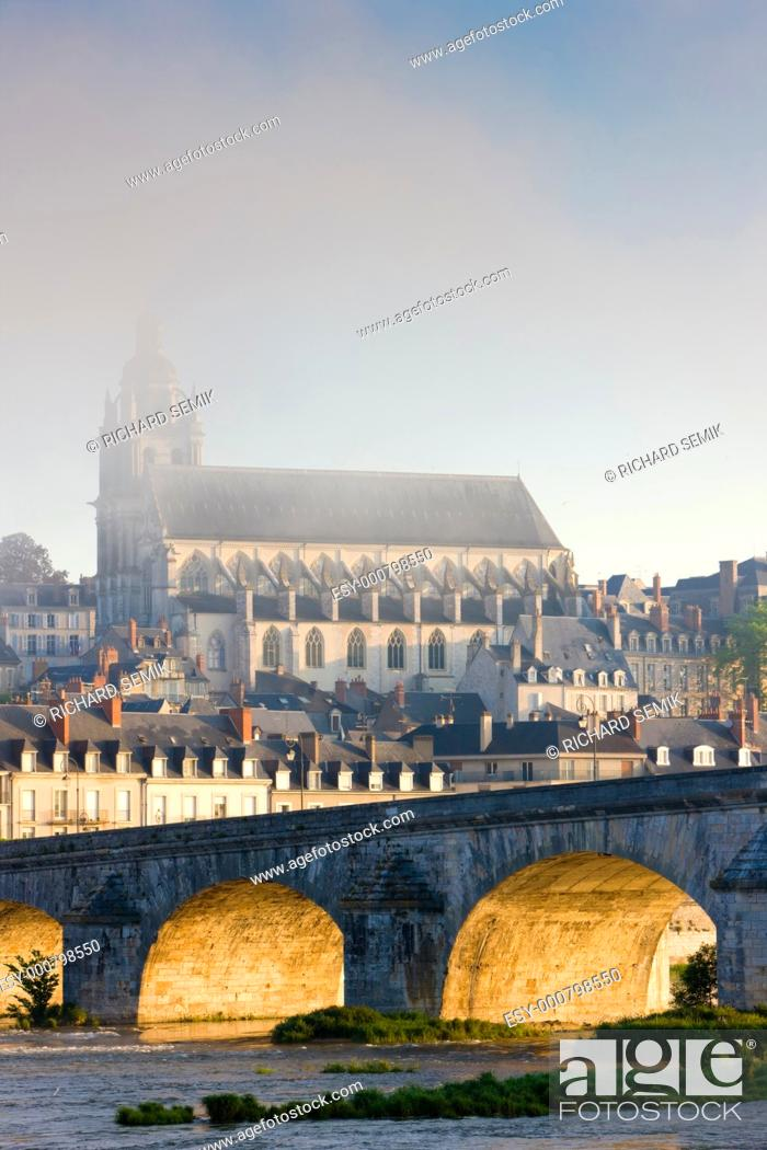 Stock Photo: Blois, Loir-et-Cher, Centre, France.