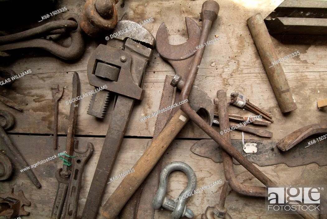 Stock Photo: Old tools.