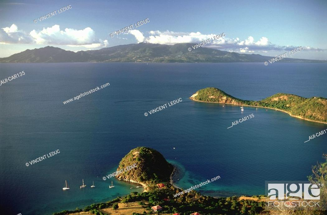 Stock Photo: French Caribbean - Caribbean Islands - Les Saintes - Terre de Haut - The Sugar Loaf.