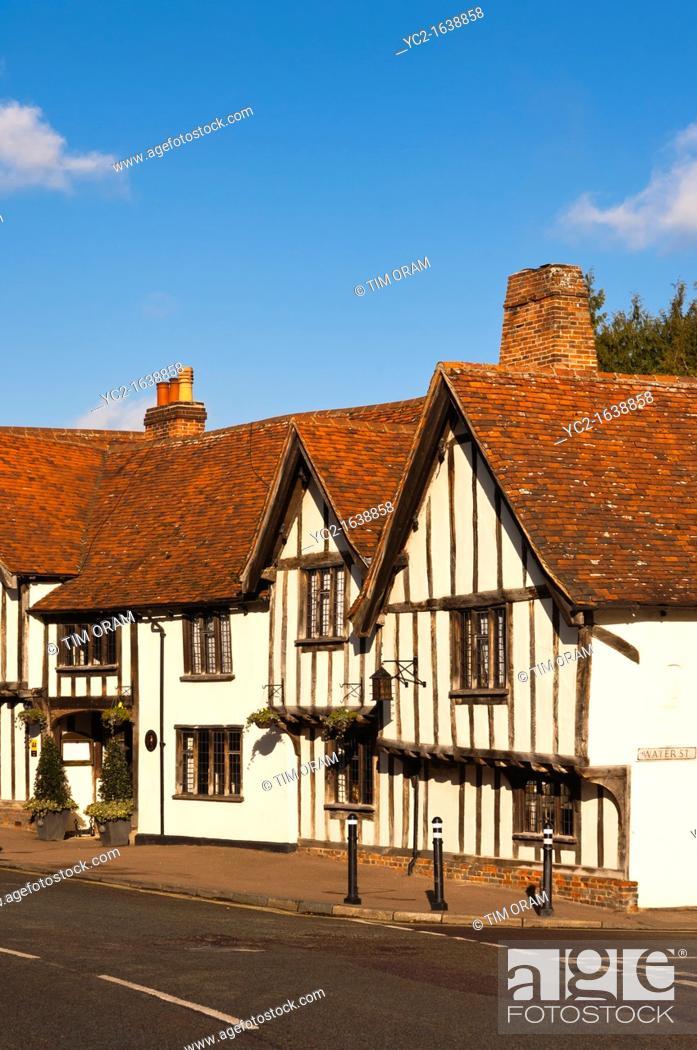Stock Photo: The Swan Hotel in Lavenham , Suffolk, England , Britain , Uk.