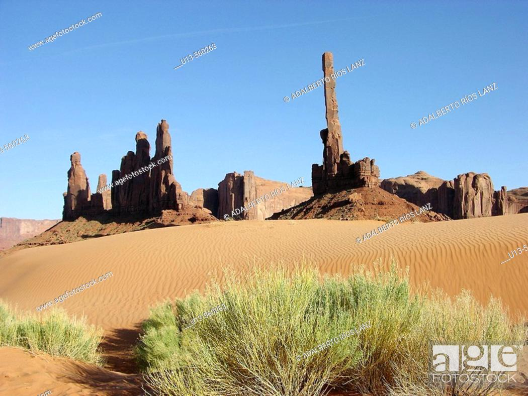 Stock Photo: Totem Pole Monument Valley National Park Navajo Nation Arizona United States.